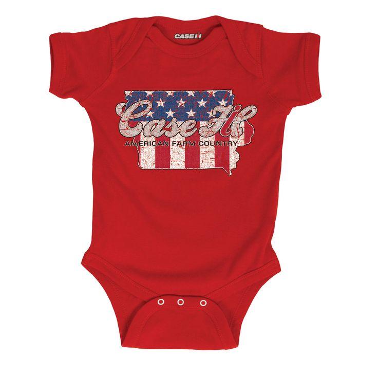 Case IH Country Patriotic Iowa Infant One Piece