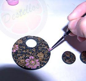 El rincón de Pastelito: Cómo realizar la imitación de cloisonné en arcilla polimérica