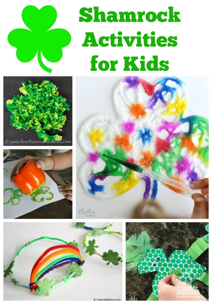 15 Shamrock Crafts for Kids. The shamrock is a very important symbol in Irish legend. The Patron Saint of Ireland, St Patrick showed this 3 leafed clover to the Irish people to teach them about the Holy Trinity. Celebrate it in your arts and crafts this Spring.