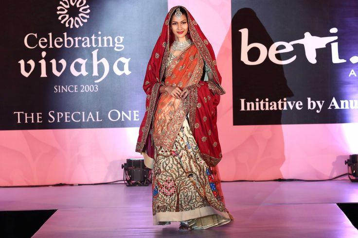 The stunning show stopper Nethra Raghuraman walking the ramp in this beautiful lehenga - StudioAV by GauravnNitesh