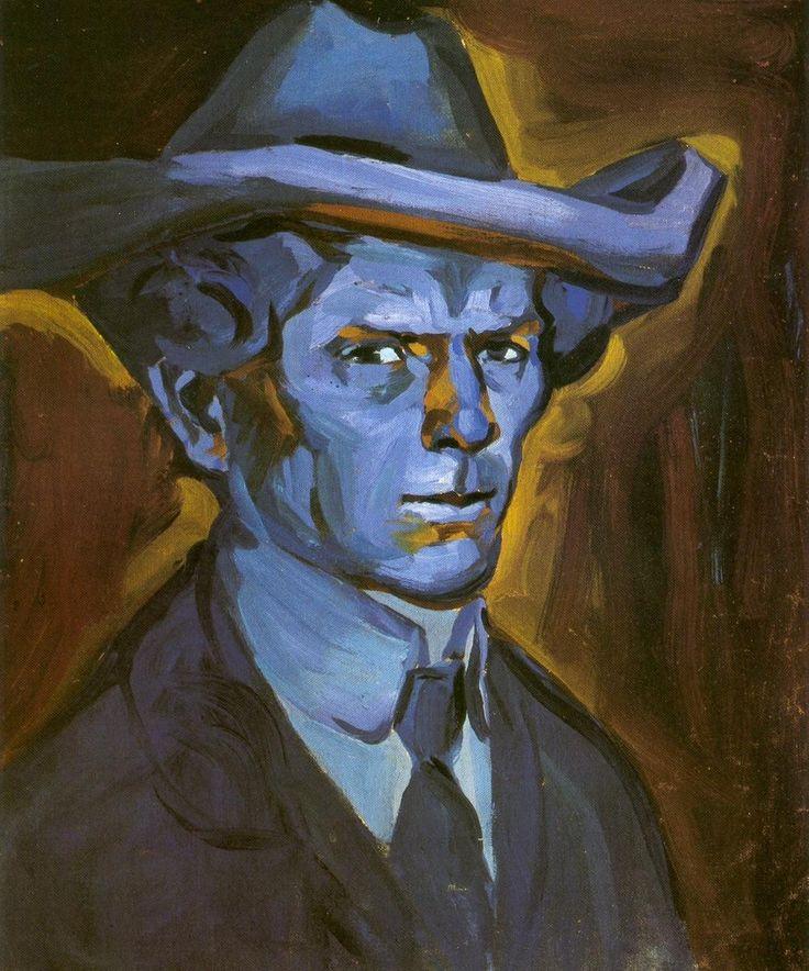 Bohumil Kubišta autoportret v klobouku