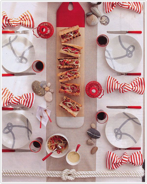 Fourth of July table (i think the original source for this photo is Martha Stewart)