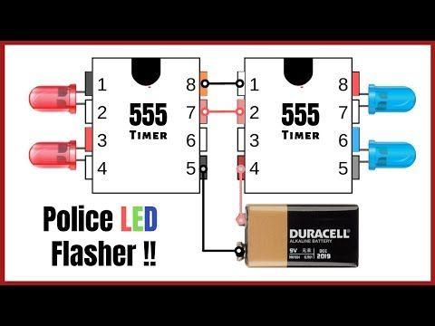 Police LED Flasher Circuit – YouTube