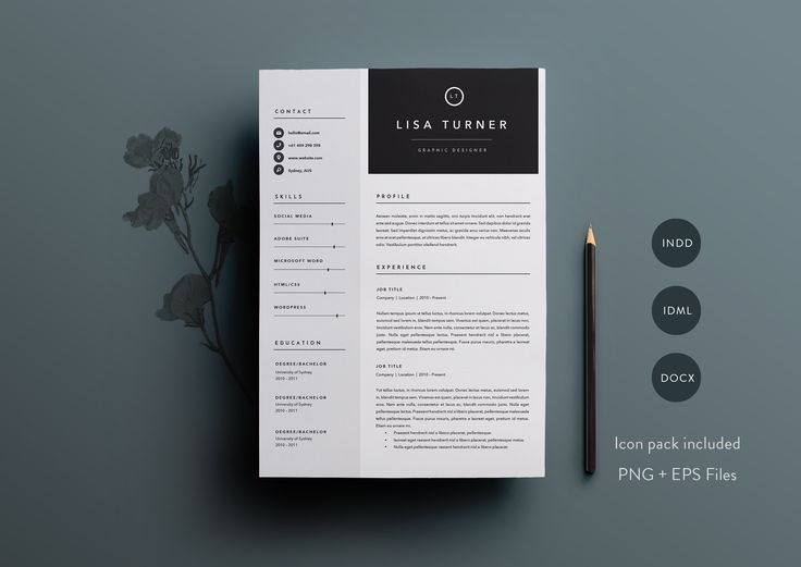 167 best Resume Templates images on Pinterest Resume templates - resume maker for mac