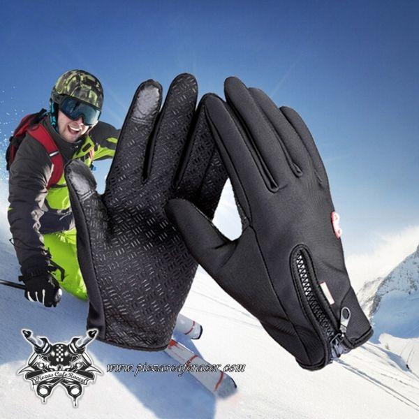 Guantes Moto Fabricados en Neopreno Válidos Para Pantalla Táctil Color Negro -- 9,64€