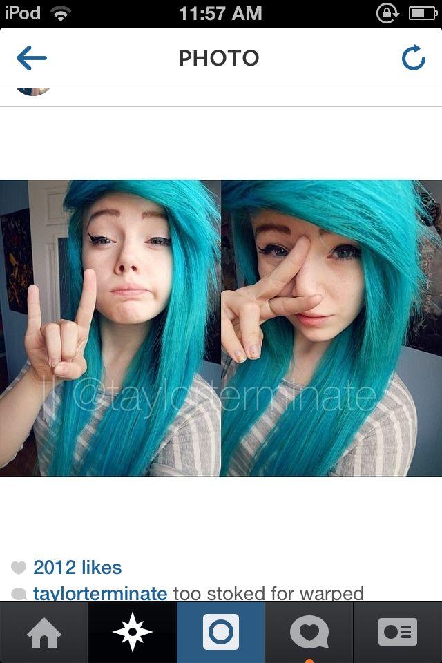 Blue hair Taylor