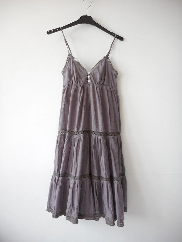 9c02158cf2 H M sukienka wrzosowa z koronką r. 34 - vinted.pl