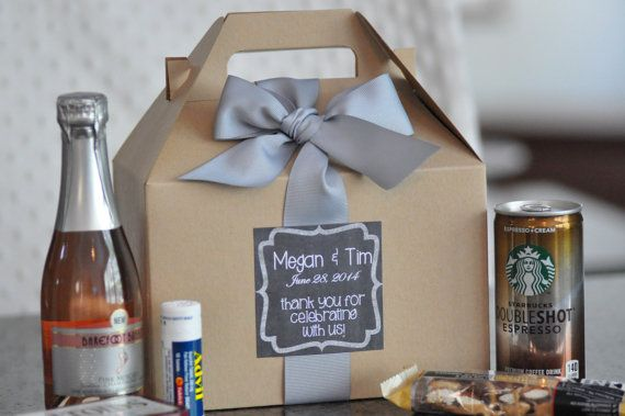 Out of Town Guest Box Bridesmaid gifts Hangover by SweetTeaPaper