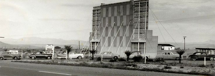"""Alpine Twin Peaks Drive-In, showing """"A Man Called Peter,"""" starring Jean Peters (1955 release)"""
