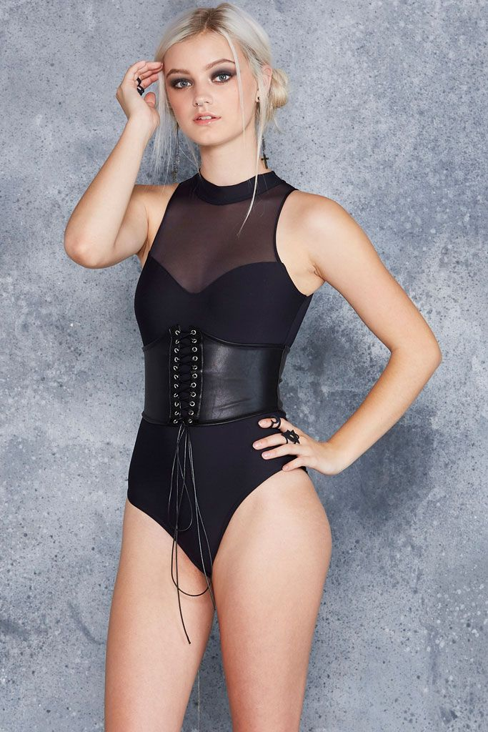 The Bound Corset ($60AUD) by BlackMilk Clothing