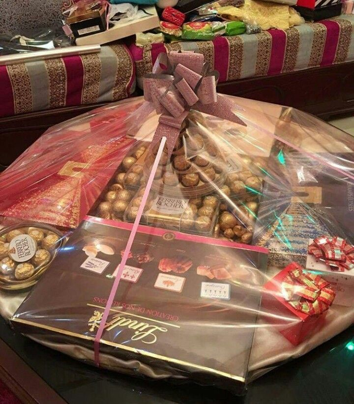 Creative wedding gift baskets for bride and groom