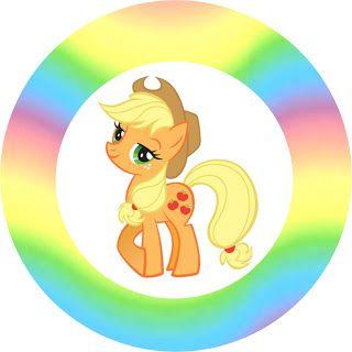 My Little Pony Cores Claras - Kit Completo com molduras para convites, rótulos para guloseimas, lembrancinhas e imagens!