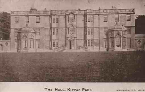 Edwardian postcard, The Hall Kippax Park, West Yorkshire