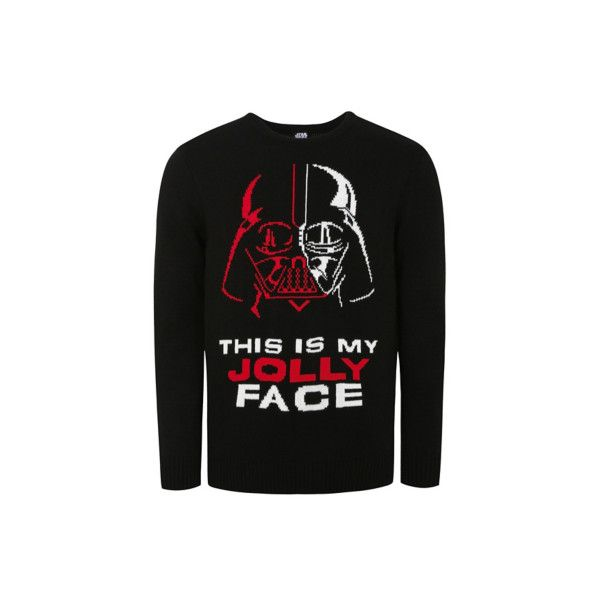 George Star Wars Darth Vader with Sound Christmas Jumper (£10) ❤ liked on Polyvore featuring men's fashion, men's clothing, men's sweaters, black, mens christmas sweaters, mens crewneck sweaters, mens crew sweater, mens holiday sweaters and mens crew neck sweaters