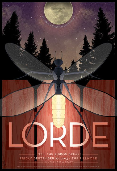 Poster: Lorde at the Fillmore SF by Jim Schaaf, via Behance