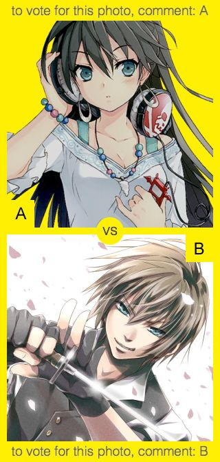 A or B? To vote for top photo comment A, to vote for bottom photo comment B. See results at http://swingvoteapp.com/#!polls/5377. Click here http://swingvoteapp.mobi/ to install Swingvote mobile app and create your own polls.