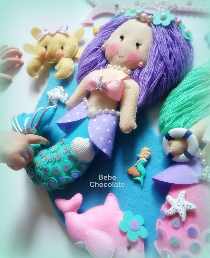 my baby girl, little baby hand, her name is Dream, felt mermaid, baby car decoration, deniz kızı, keçe