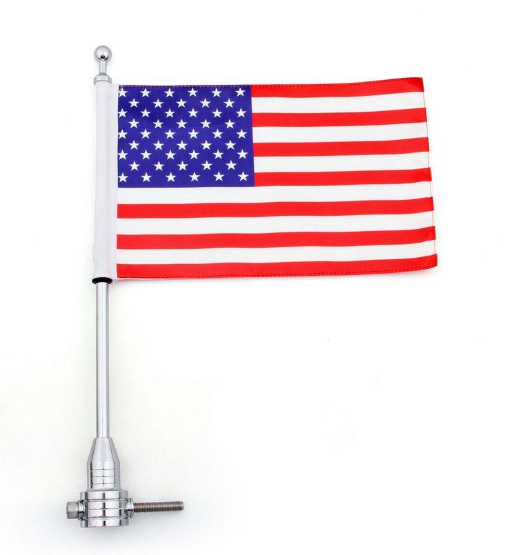 Mad Hornets - Flag Pole Mount Luggage Rack Vertical USA Harley-Davidson Touring Road King Glide