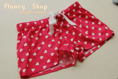 [М] точка иностранных экспорта одной семьи галстук носовая волна домой немного любви клетчатые шорты - Taobao