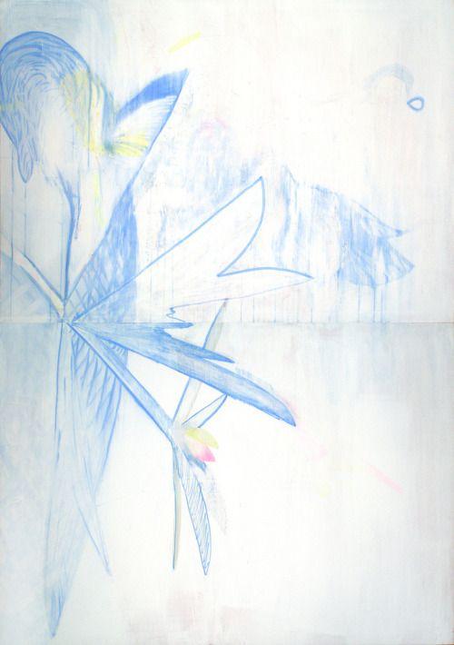 Aurelio Ayela Azul. Rotulador y acrílico/lienzo. 228x114 cm MORE
