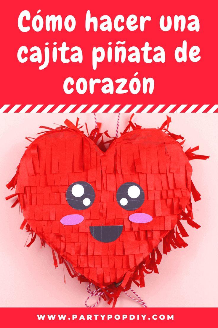 Cajita dulcero corazón #piñata #cajita #dulcero #piñata piñata corazon Diy, Cakes, Mini Pinatas, Hand Print Ornament, Sachets, Valentines, Meet, Crates, Art