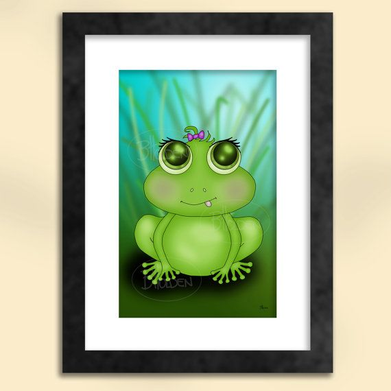 Frog Art Print by SapphireMoonArt on Etsy