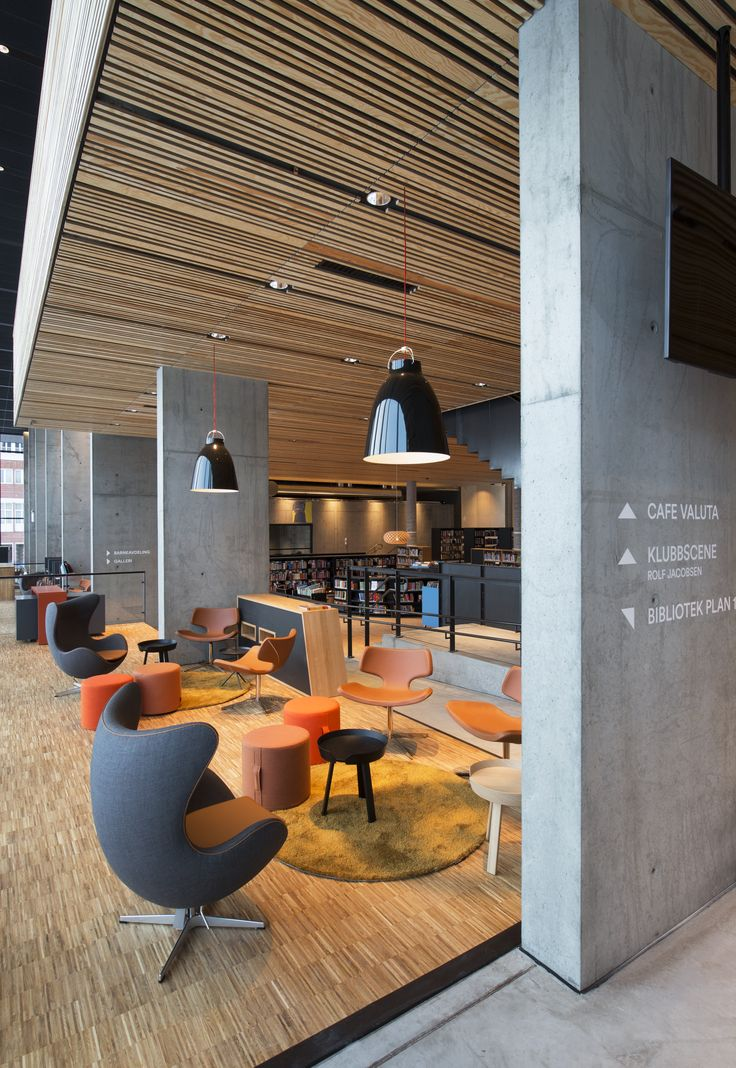 Hamar Public Library, designed by Metropolis arkitektur & design. www.metropolis.no