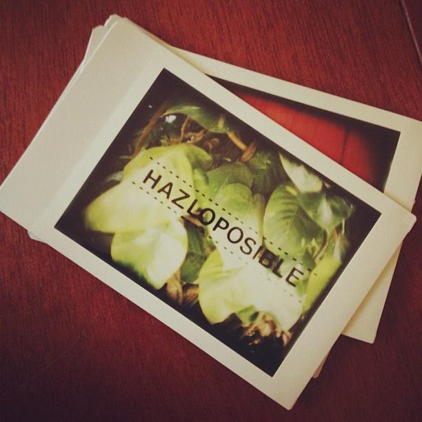 Dejar que las cosas sucedan, no es garantía de que sucedan. HAZLO POSIBLE -Manolo G. @bluetypo #lomography #photo #instax