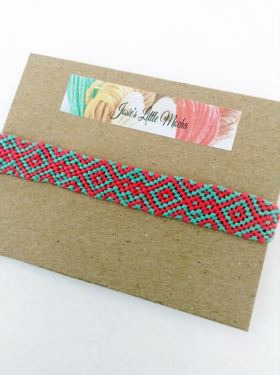 Handgemaakte Azteekse Friendship Bracelet / kleurrijke
