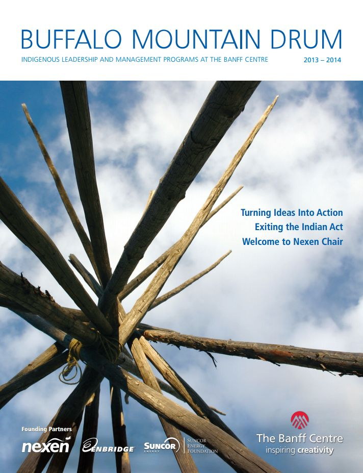 The Buffalo Mountain Drum offers a detailed listing of all Aboriginal Leadership and Management programs offered, plus articles on current Aboriginal leadership issues