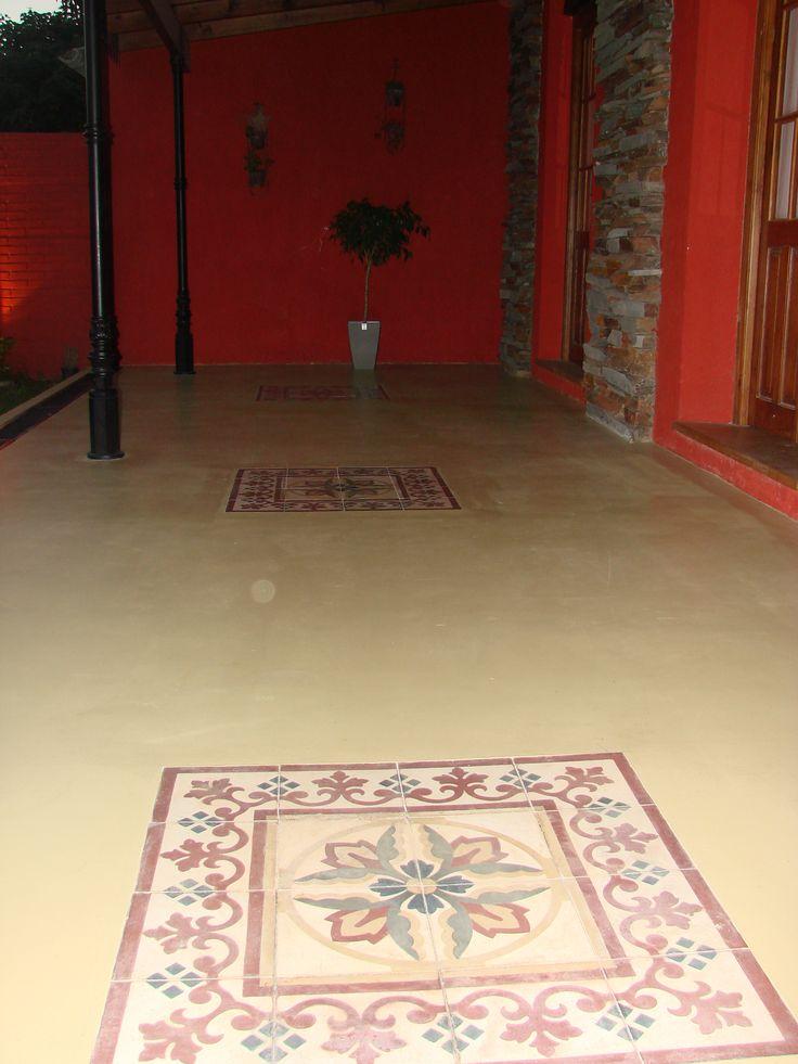 Galer a con detalle de mosaicos calcareos artesanales de - Pavimento exterior barato ...