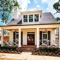 Newly completed bungalow home at @provenancecommunity! SOLD. We love the gorgeous @bevelo gas lamps! #shreveport #newhomes #neighborhood #bungalow