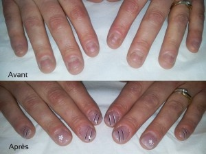 faux ongles ongles ronges
