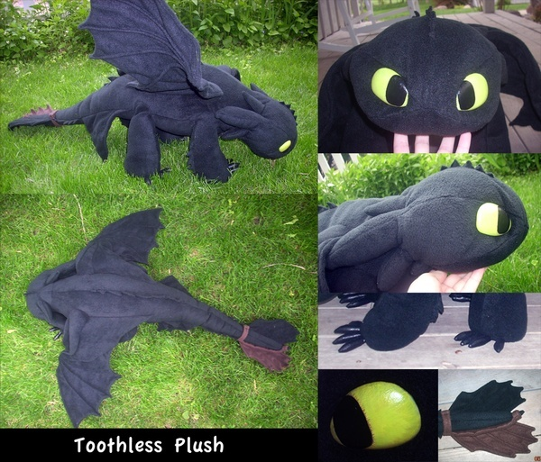 One BIG Toothless. Another beautifull (and Free) pattern for our most adorable plushy dragon.  #crafts-general