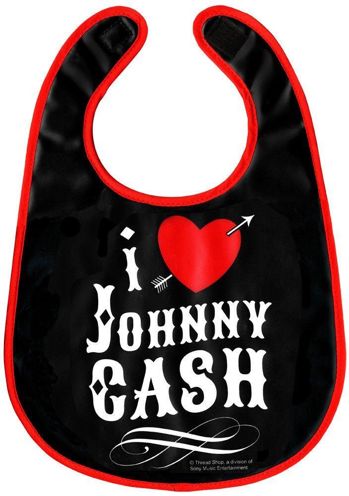 Sourpuss Tattoo I Heart Johnny Cash Bib Baby Rockabilly Country Music Hillbilly