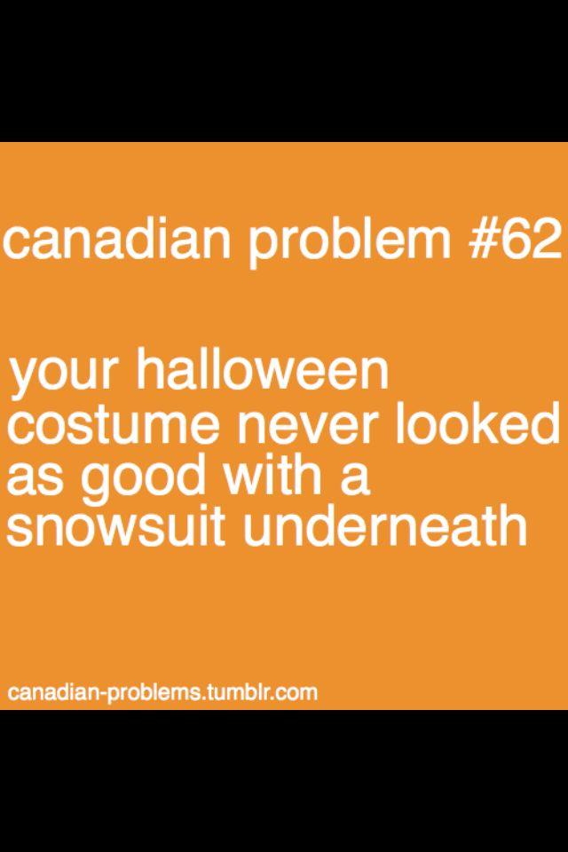 Halloween in Canada :)