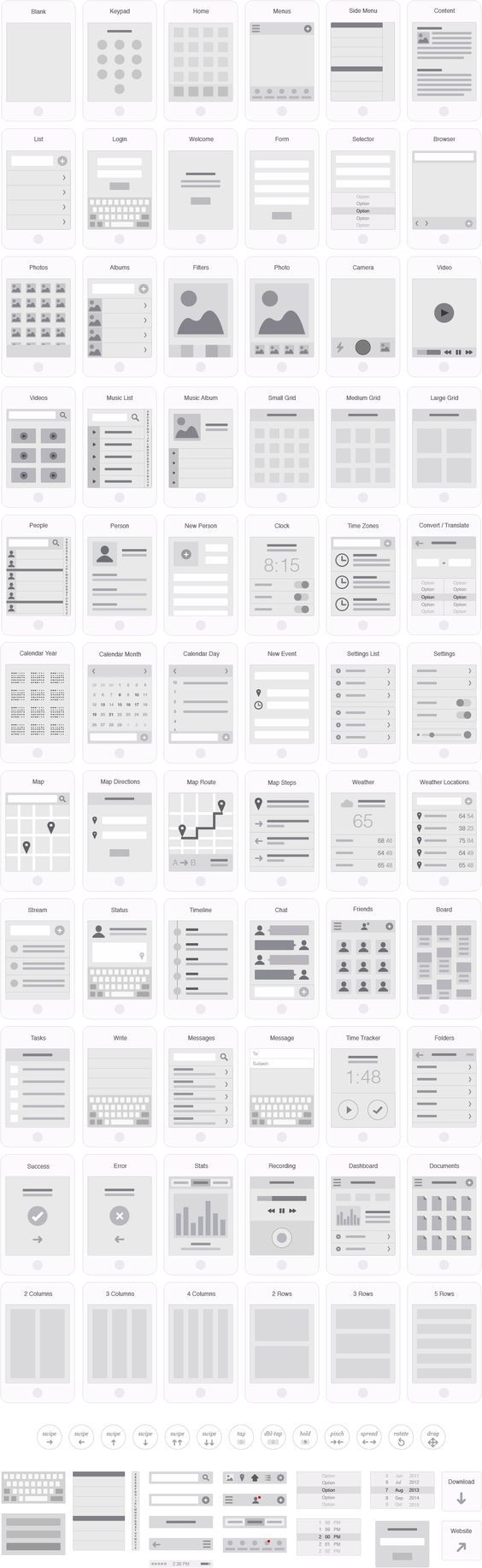 Mobile App Visual Flowchart Illustrator Template – UX Kits #ux #webdesign: