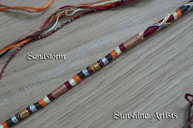 Hair wrap Hair braid SANDSTORM feather clip in boho hair