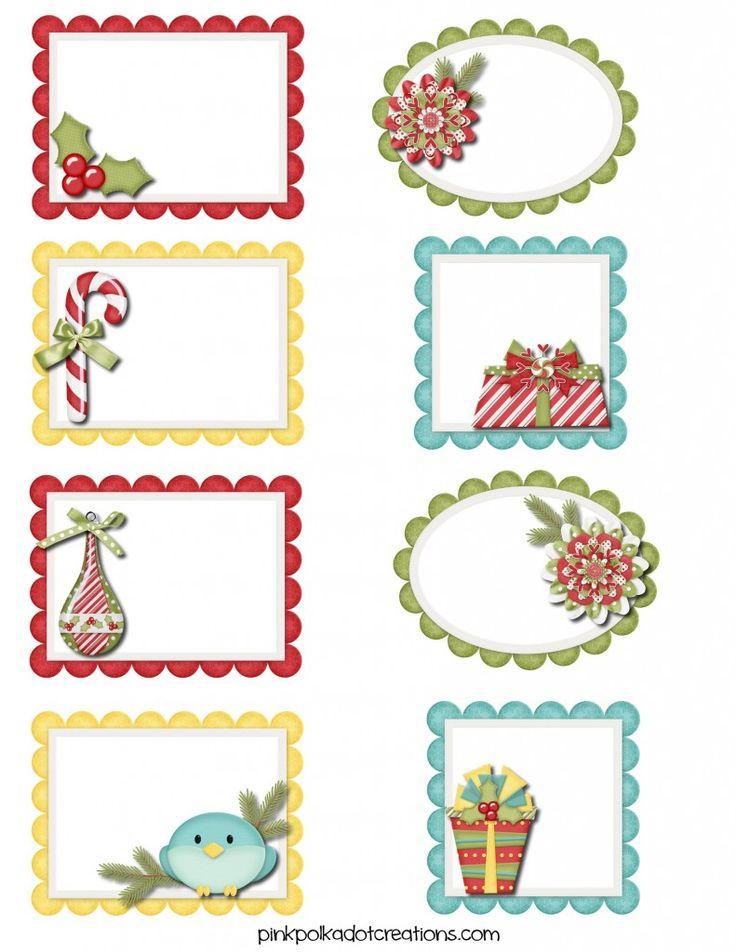 Cute {free} Printable Christmas Tags and Labels | Pink Polka Dot Creations
