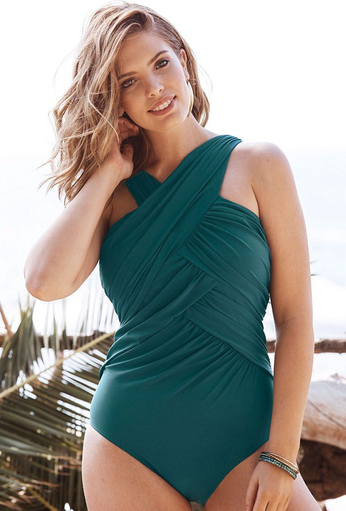51ad6dfaeda Try out the Mediterranean Wrap High Neck One Piece Swimsuit and more at  Swimsuits for All! From stylish tankinis to classic bikinis, we've got what  you're ...
