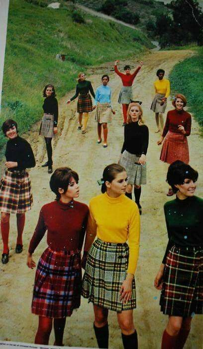 1960s Kilts, Sweaters and the required Knee Socks
