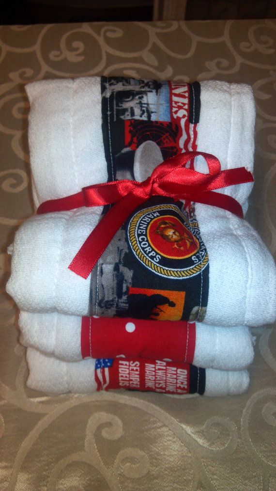 3 Pack US Marines Baby Burp Cloths by RachelSewCrazy on Etsy, $10.00