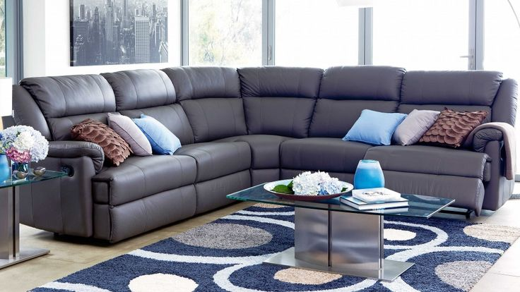 Kato leather king modular recliner lounge lounges for Suite modulare