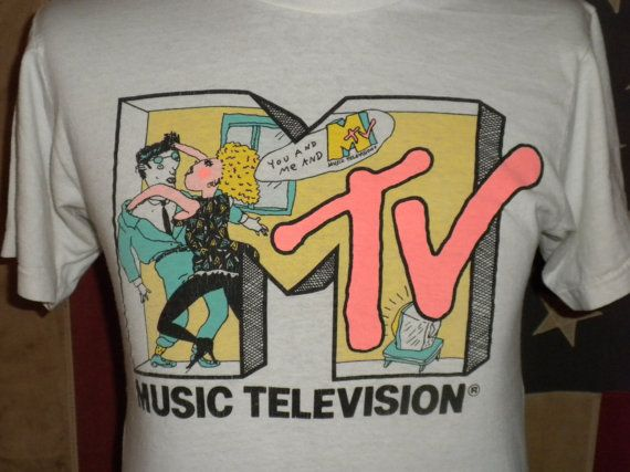 Vintage 80s 90s MTV music television t shirt by amoryvintageco, $48.00