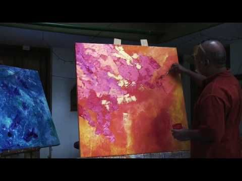 Abstract Painting by Ajay Chavan- Full Demo