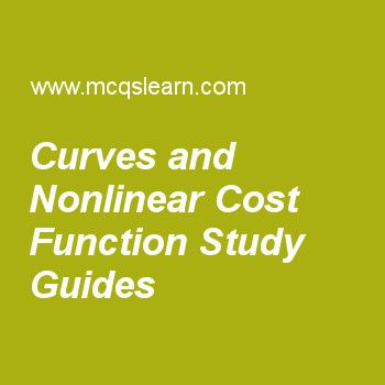 Curves and Nonlinear Cost Function Study Guides