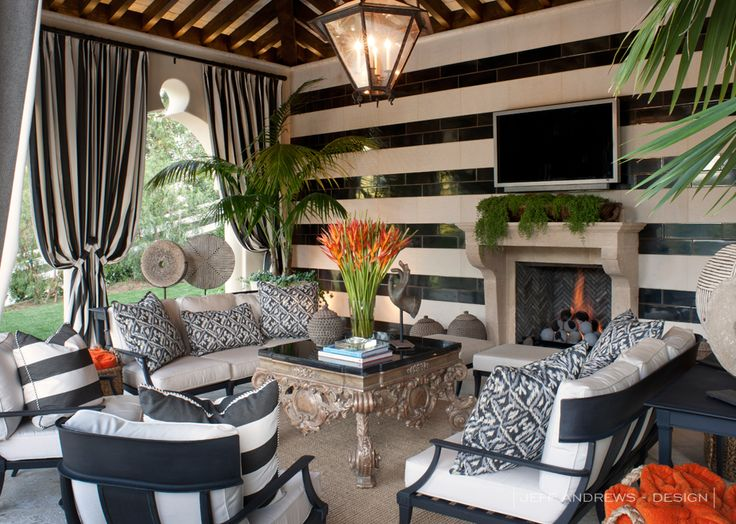 Outdoor Living - The outdoor fireplace would make this the perfect area to relax in the evening with a glass of wine.
