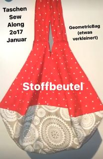 KathieKreativ - Geometric Bag 'KathieKreativnäht Stoffbeutel für den Januar Beitragzum Taschen-Sew-Along 2017