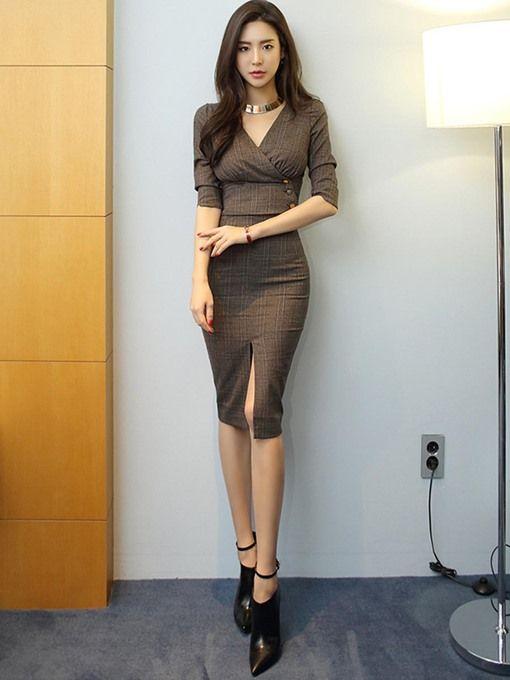 715de3e03e Pin by Edo Blanco on Korean beauty in 2019 | Skirt suit, Dress skirt, Body  con skirt