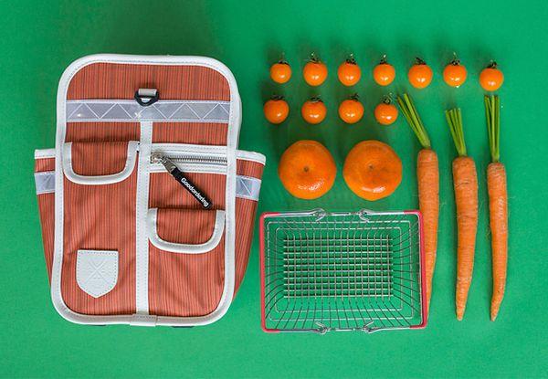 goodorering mochila original y vintage para niños color naranja